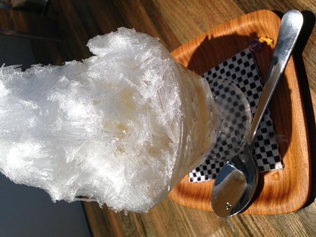 天然かき氷始めました。